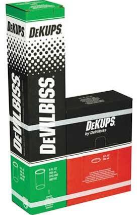 DeVilbiss DPC-602 DeKups Disposable Liners & lids (9oz) 32 pack